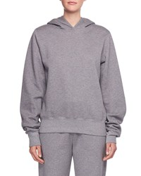 The Row Wren Hooded Cotton Sweatshirt Charcoal