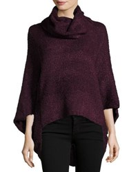 Bishop Young Cowl Neck Knit Poncho Beige