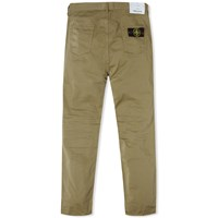 Stone Island Cotton Sateen Regular Tapered Chino Green