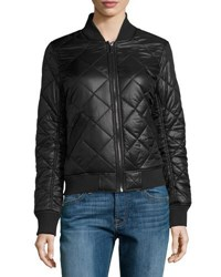 French Connection Quilted Bomber Jacket Black