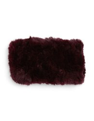 Surell Rabbit Fur Headband Wine
