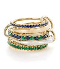 Spinelli Kilcollin Atlas Sapphire Emerald Ring Female Green