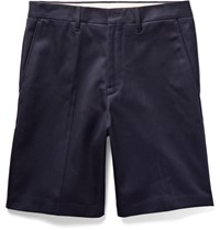 Acne Studios Adrian Cotton Chino Shorts Midnight Blue