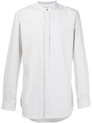 Christophe Lemaire Band Collar Shirt White