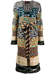 Missoni Patterned Knit Longline Cardigan Neutrals