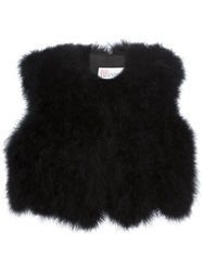 Red Valentino Feather Gilet Black