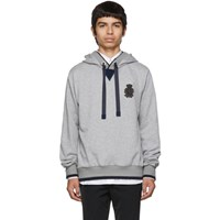 Dolce And Gabbana Grey Cashmere Plain Hoodie