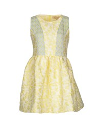 Bonsui Short Dresses Yellow
