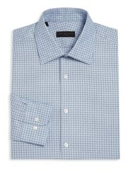 Ike Behar Regular Fit Plaid Dress Shirt