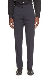 Men's John Varvatos Star Usa Flat Front Solid Wool Trousers Navy