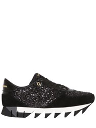 Dolce And Gabbana 20Mm Capri Glitter Suede Sneakers