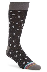 Bugatchi Men's 'Donegal' Polka Dot Socks Black Grey Polka Dot