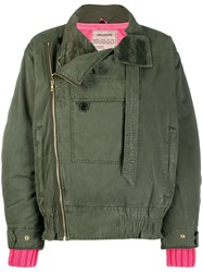 Zadig And Voltaire Oversized Bomber Jacket Green