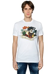 Dsquared Lumberjack Printed Cotton Jersey T Shirt
