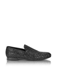 Jimmy Choo Sloane Black Glitter Loafer