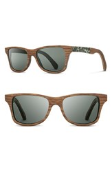 Shwood Women's 'Canby' 55Mm Polarized Wood And Seashell Inlay Sunglasses