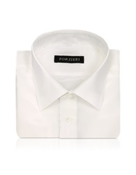 Forzieri Ivory Pure Silk Dress Shirt
