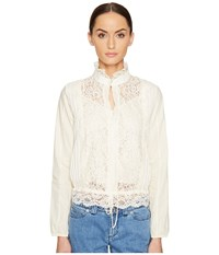 See By Chloe Lace Front Blouse Off White Women's Blouse