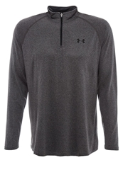 Under Armour Tech Long Sleeved Top Carbon Heather Black Anthracite