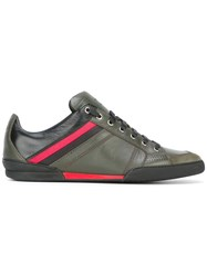 Christian Dior Homme Stripe Detail Sneakers Green