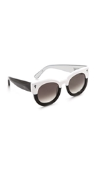 Valley Eyewear A Dead Coffin Club Sunglasses Vintage White To Black Brown