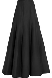 Halston Heritage Tulip Cotton Blend Maxi Skirt Black