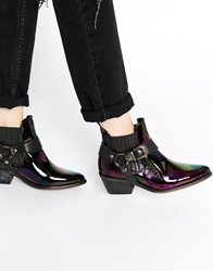 Tba To Be Announced Assault Western Ankle Boots Blackpetrol