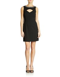 Ali Ro Beaded Pieced Dress Black