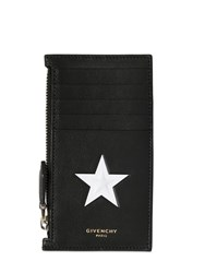 Givenchy Embossed Star Zipped Card Holder