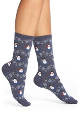Women's Hot Sox 'Christmas Snowmen' Crew Socks