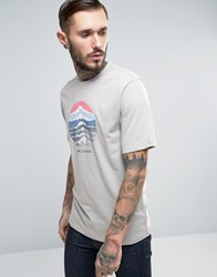Columbia Mountain Sunset T Shirt In Grey Marl Grey Heather