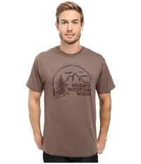 Marmot Halation Short Sleeve Tee Brown Heather Men's Clothing