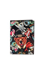 Dsquared Tattoo Printed Leather Card Holder