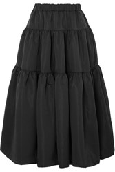 Co Tiered Faille Skirt Black