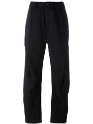 Individual Sentiments Curved Seam Trousers Black