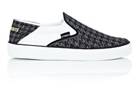 Vetements Houndstooth Canvas Slip On Sneakers Black Gray