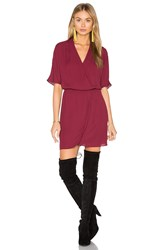 Wayf Sutherland Dolman Wrap Dress Burgundy