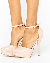 Truffle Collection Platform Shoe Nude Pu Beige