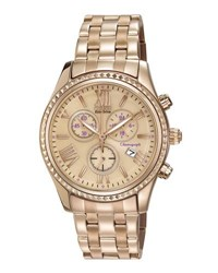 Citizen 40Mm Chronograph Bracelet Watch Pink Gold
