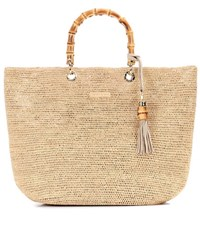 Heidi Klein Savannah Bay Medium Raffia Tote Beige