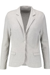 Majestic Houndstooth Cotton Cashmere And Silk Blend Blazer Light Gray