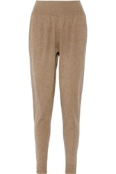 Michael Kors Collection Cashmere Track Pants Tan