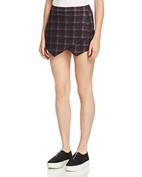 Aqua Plaid Skort Burgundy Blue Black