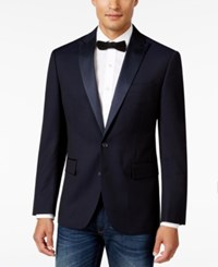 Ryan Seacrest Distinction Men's Slim Fit Blue Geo Evening Jacket Only At Macy's