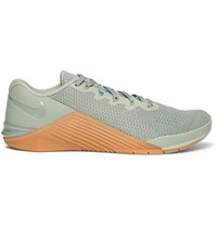 Nike Training Metcon 5 Rubber Trimmed Mesh Sneakers Green