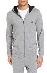 Boss Men's 'Mix And Match' Stretch Cotton Hoodie Grey