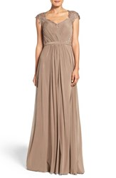 La Femme Women's Mixed Media Gown