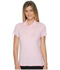 Callaway Opti Dritm Micro Hex Short Sleeve Polo Pink Lady Women's Short Sleeve Pullover