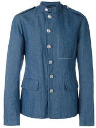 3.1 Phillip Lim Chambray Military Jacket Blue