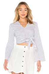 The Fifth Label Barbados Stripe Long Sleeve Top White